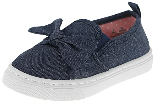 25e5a9a4b378 Capelli New York Toddler Girls Slip On Shoes with Bow Detail Denim 5