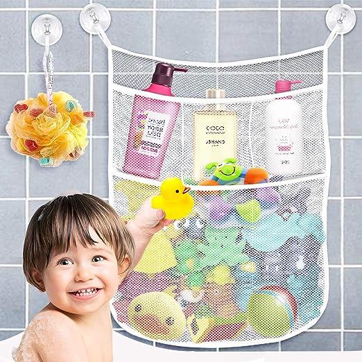 Bath Tub Organizer Bags Holder Storage Basket Kid Baby Shower Toy Net Bathtub xc