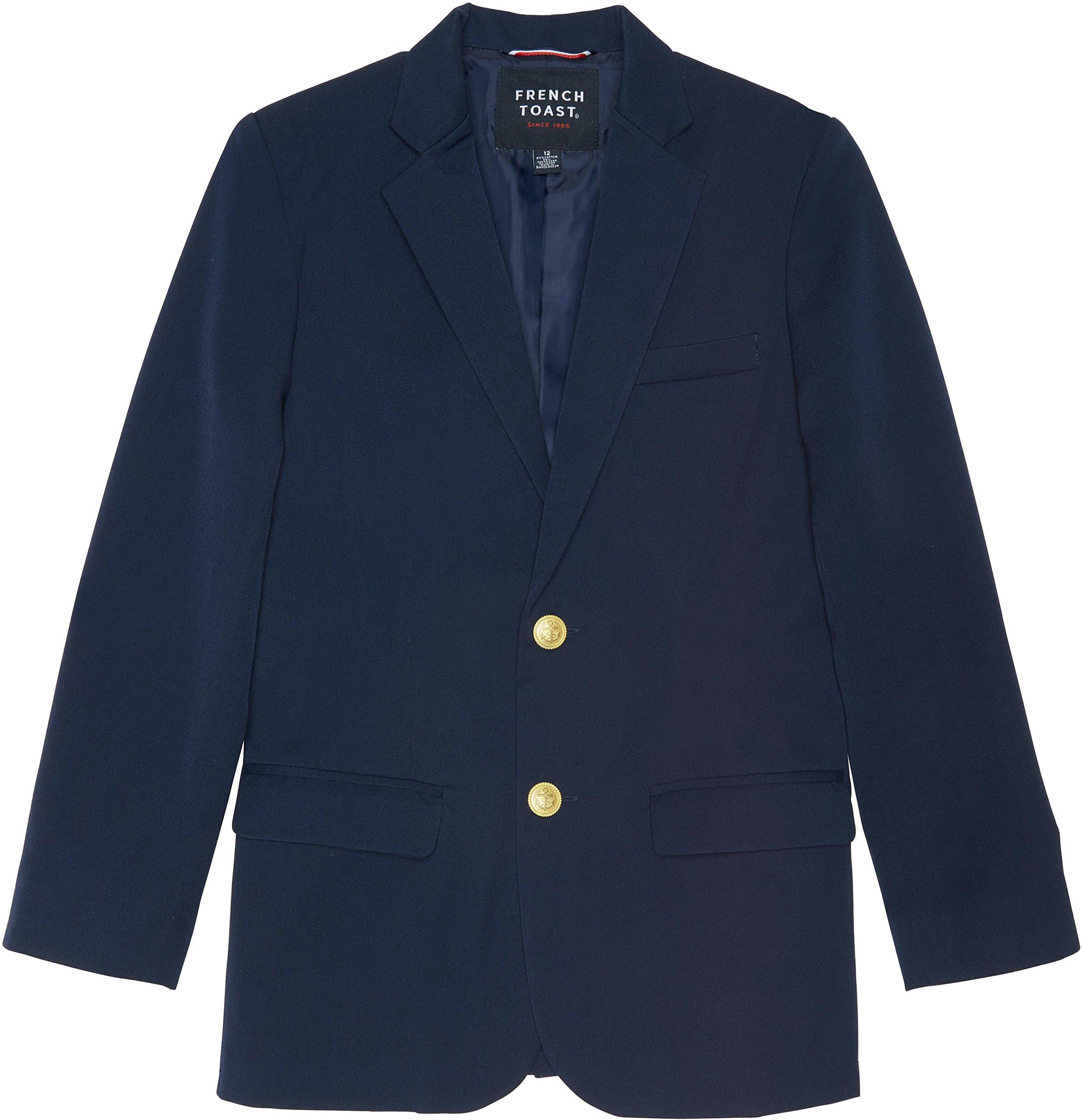 French Toast School Uniform Boys Classic School Blazer, Navy, 10