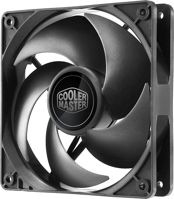 Cooler Master Silencio FP 120 PWM - Ventilador de PC (Ventilador, Carcasa del ordenador, 4 Pins, 12 cm, Negro, 0,03A, 0,36W)