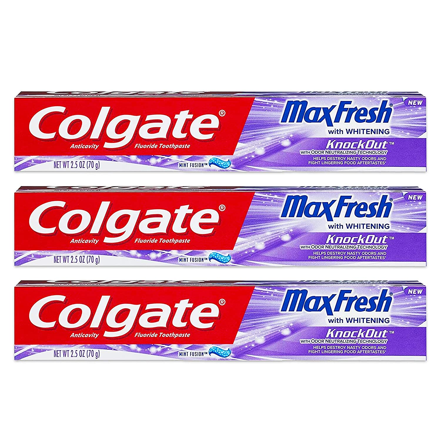 Colgate Max Fresh Knockout Gel Toothpaste, 2.5 Ounce Pack Of 3