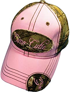 3bf6a376506 Woman s Realtree Camo Hat with Pink Trim Woman s Camo Ball Cap