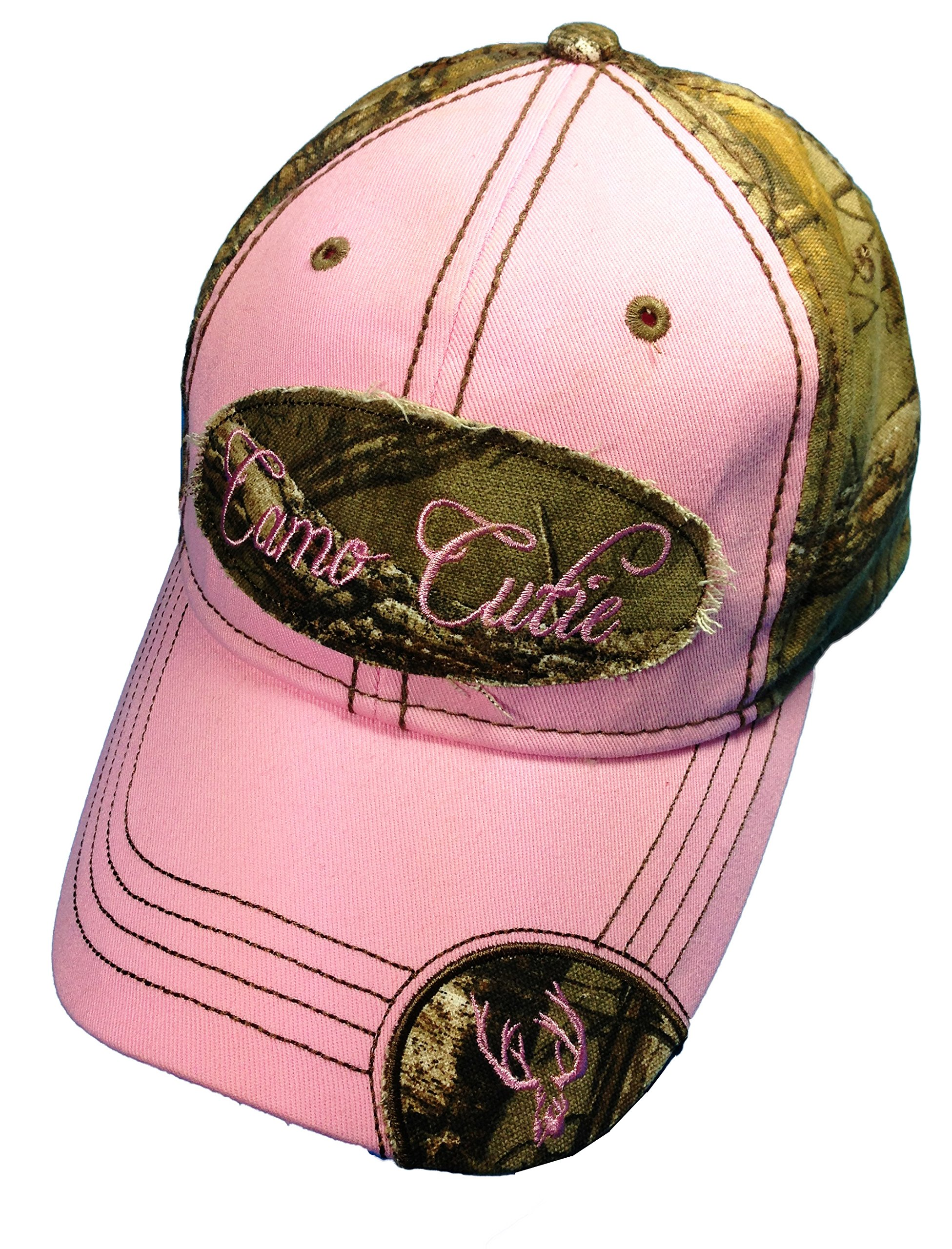 Woman's Realtree Camo Hat with Pink Trim Woman's Camo Ball Cap by BT Outdoors (Image #1)