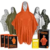 Emergency Rain Ponchos (3-Pack), Reusable Mylar Poncho for Men, Women, Kids, Adults + Emergency Gold Thermal Blanket for…