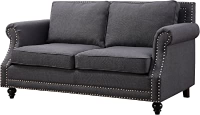 Tov Furniture Camden Linen Loveseat, Grey