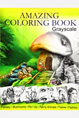 Amazing Coloring Book. Grayscale: For Grown-Ups, Adult Relaxation Paperback