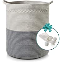 """Cotton Rope Basket with Handles 
