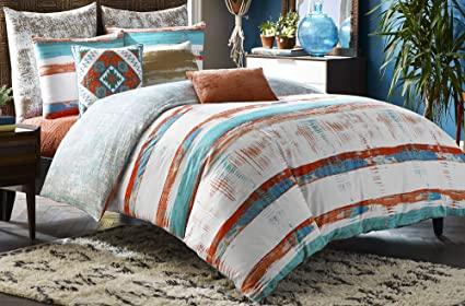 Blissliving Home 14826BEDDQUEMUL Siesta 92 Inch By 96 Inch 3 Piece Queen Duvet  Set