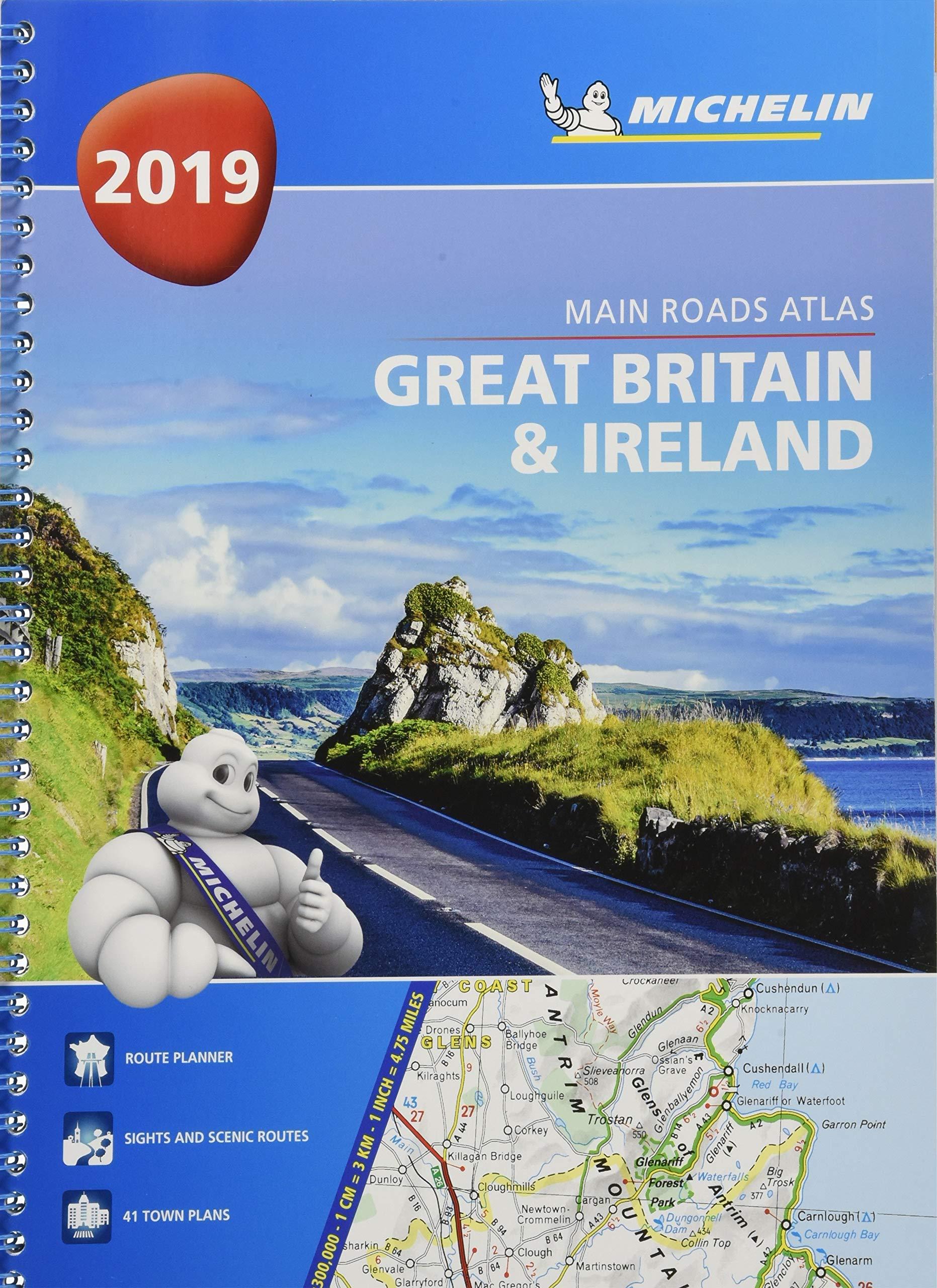 Tourist /& Motoring Atlas A4 Spiral 2019 Great Britain /& Ireland 2019