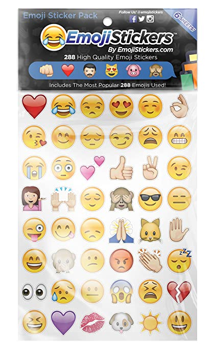 Amazoncom Emojistickers Most Popular Emojis 288 Pack Arts