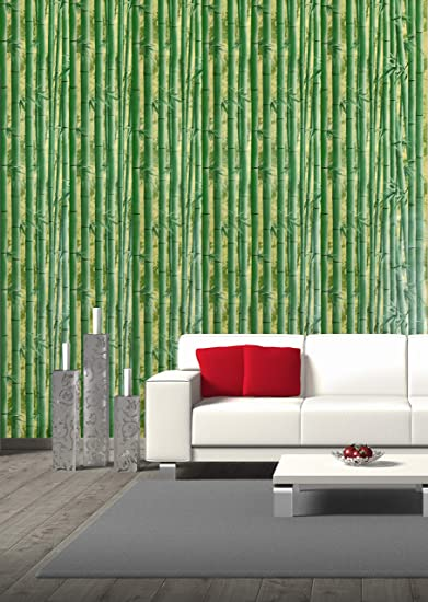 Konark Designer Wallpapers Natural Vinyl Green Bamboo Scenery Design 3d Wallpaper