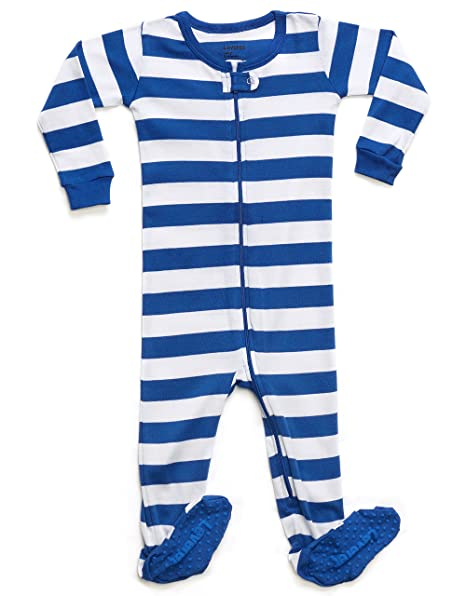 7377b7a48bd6 Leveret Striped Footed Pajama Sleeper 100% Cotton (12-18 Months ...