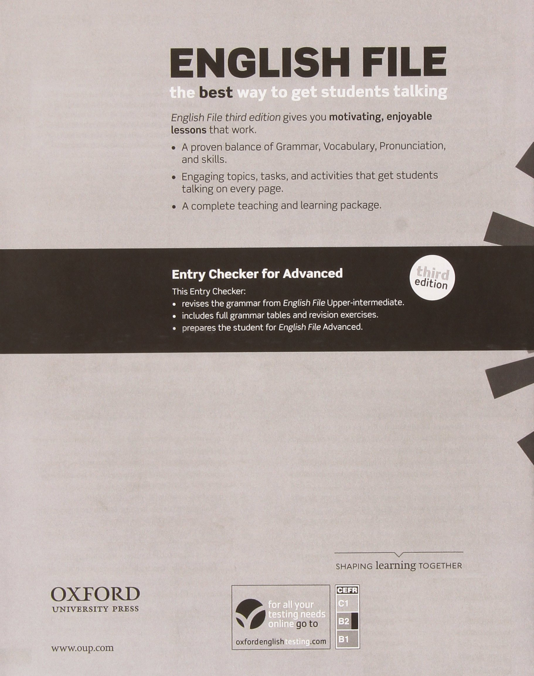 English File Advanced Student S Book Workbook With Key Pack 3rd Edition Amazon Co Uk 9780194502160 Books