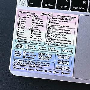 SYNERLOGIC (M1+Intel) Mac OS Keyboard Shortcut Vinyl Sticker, No-Residue Adhesive, 3.25