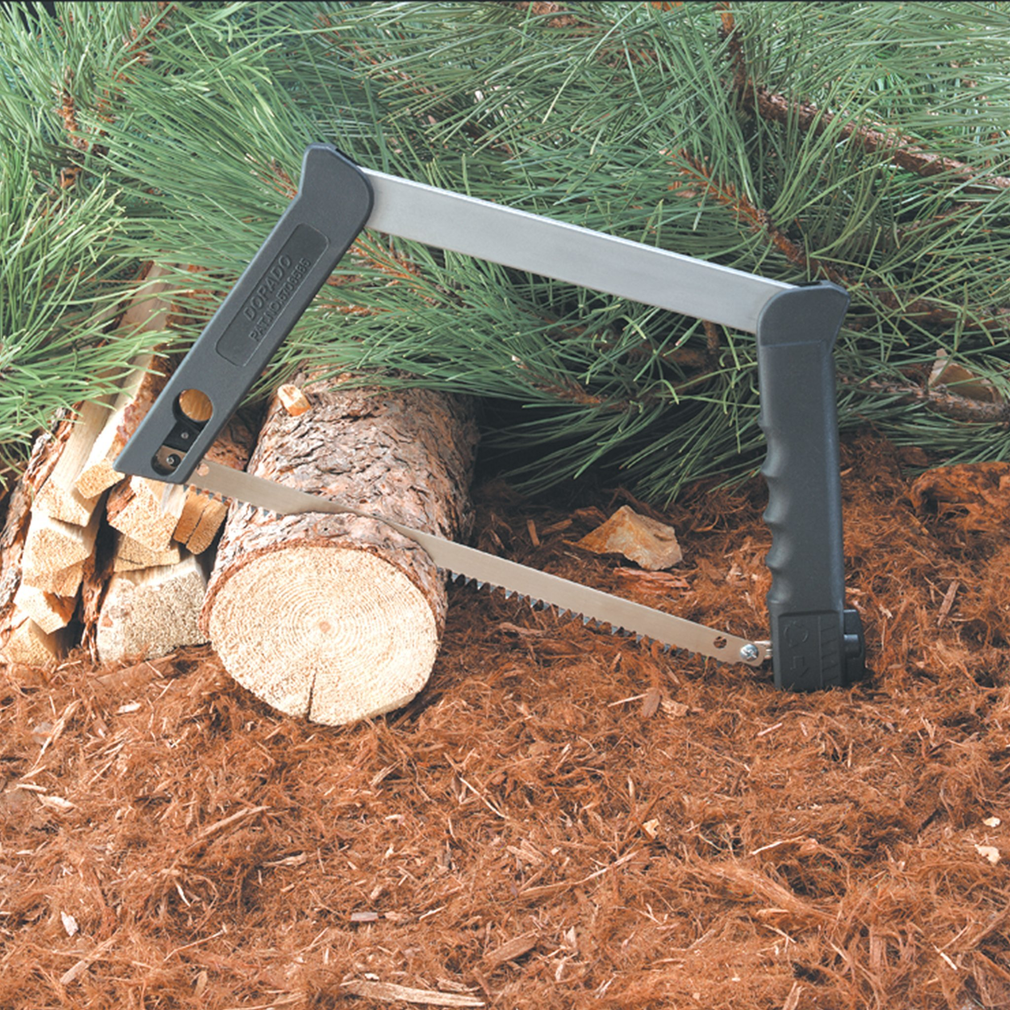 Outdoor Edge Pack Saw, PS-100, Collapsible 12 Inch Camp, Backpacking and Hunting Saw with 3 Blades for Wood, Metal, and Bone