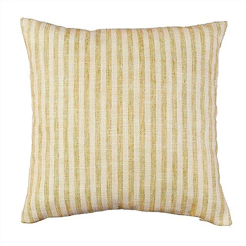 Amazon Brand Stone Beam Rustic Stripe Throw Pillow – 17 x 17 Inch, Sunshine