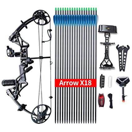Amazon Com Compound Bow Package M1 19 30 Draw Length 19 70lbs