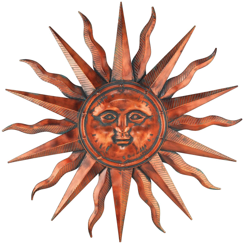 """Regal Art &Gift Copper Patina Sun 40"""""""