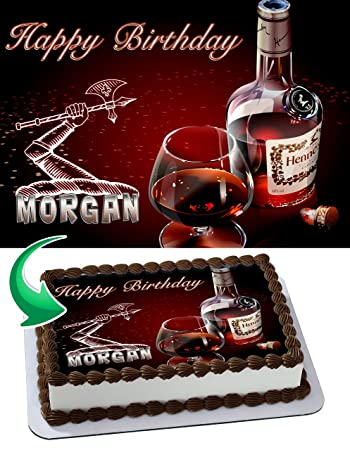 Hennessy Edible Image Cake Topper Personalized Birthday 1/4 Sheet