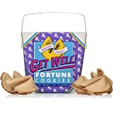 Get Well - Get Better Soon Gift - Fortune Cookies In A Gift Box – 8 Pieces Traditional Vanilla Flavor Individually Wrapped – Kosher Certified