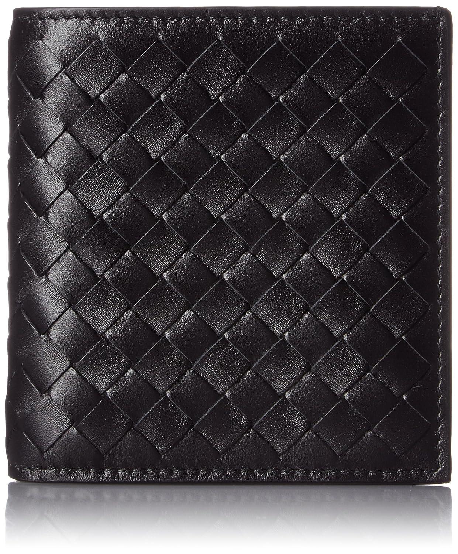 [ボッテガヴェネタ] BOTTEGA VENETA 財布 二つ折り財布(小銭入れなし) 【並行輸入品】 B01FQB4K9O  (1000)ブラック