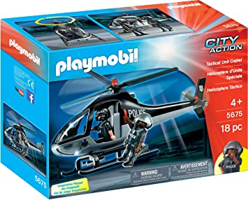 Playmobil 5563 Tactical Unit Helicopter