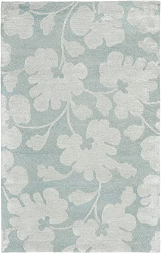 Safavieh Soho Collection SOH419B Handmade Light Blue and Silver Premium Wool Area Rug 9 6 x 13 6