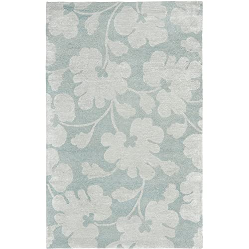 Safavieh Soho Collection SOH419B Handmade Light Blue and Silver Premium Wool Area Rug 8 3 x 11