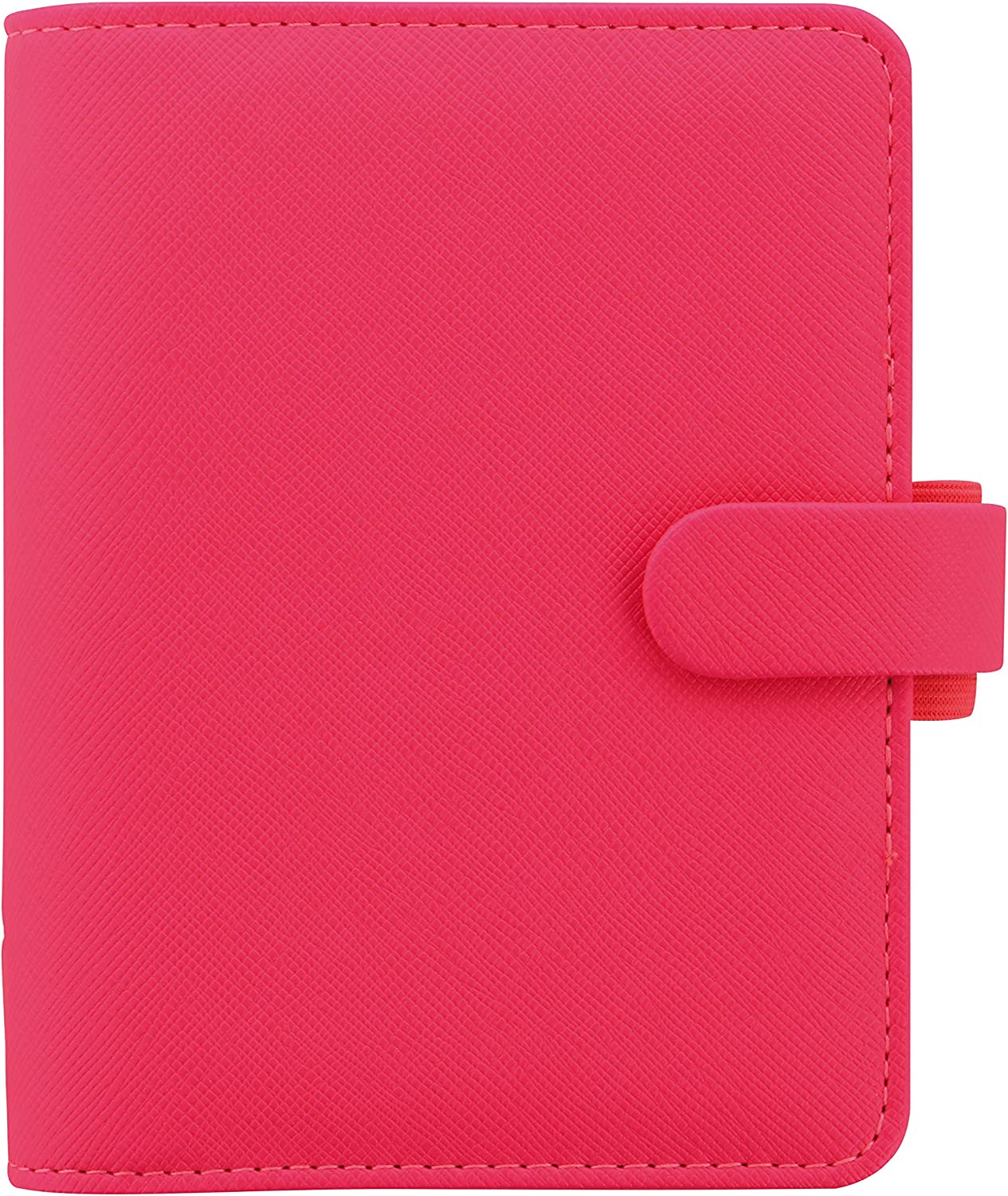 Includes Week On 2 Pages Calendar Diary 6 Rings Pocket C028752-21 Multilingual Filofax 2021 Saffiano Fluoro Pink