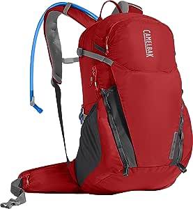 CamelBak Adult-Unisex Rim Runner 22 Backpack, Aura Orange/Charcoal, One Size, 2.5L