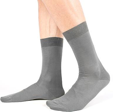 Ciocca- Calcetines cortos para hombre, algodón de alta calidad, 100% hilo de Escocia, 6 pares Assortimento Chiari 44/45 EU: Amazon.es: Ropa y accesorios