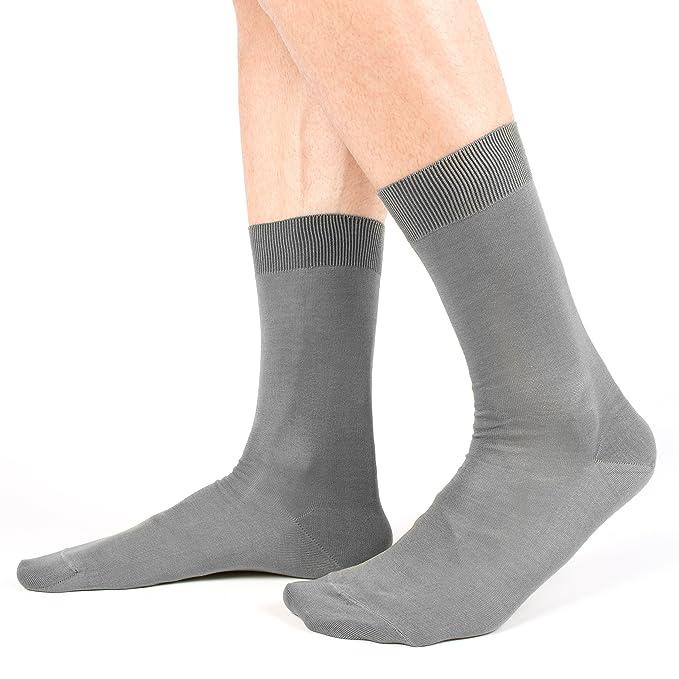 Ciocca Calcetines de hombre, 100% algodón mercerizado Filo di Scozia de alta calidad - 6 pares - tres tallas Socks: Amazon.es: Ropa y accesorios