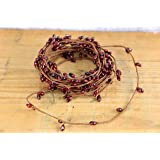 Burgundy Pip Berry Single Ply Garland 18' Country Primitive Floral Craft Décor