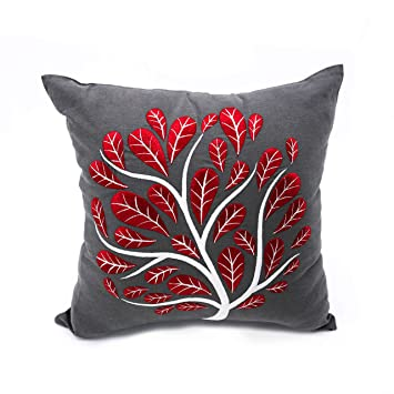 Amazon.com: Decorativa Throw Pillow Cover, Color Gris Oscuro ...