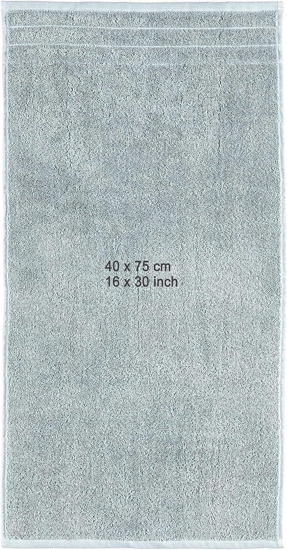 Coton cappuccino Arus Lot de 4 ou 6 serviettes 100 /% coton /éponge 500 g//m/² 2 Handt/ücher und 2 Badet/ücher 2 Gesichtst/ücher