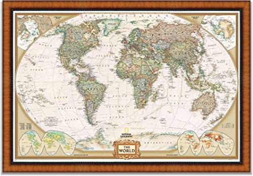 World Travel Map Wall Art Collection Executive National Geographic World Travel Map Framed Wall Art