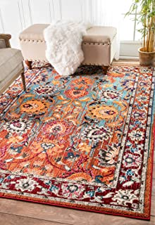 traditional vintage floral glory area rug