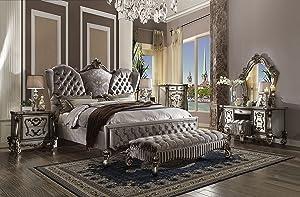 Inland Empire Furniture Versailles Platinum Formal Eastern King Bed
