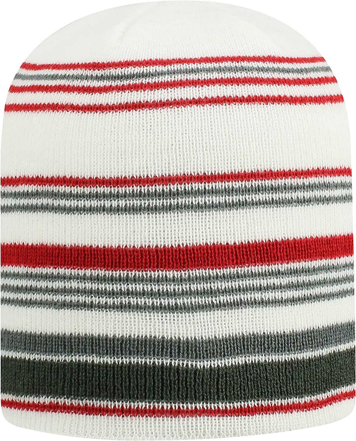 Top of the World Alabama Crimson Tide Official NCAA Uncuffed Knit Channel Stocking Stretch Sock Hat Cap Beanie 480329