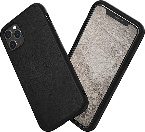 Amazon Com Rhinoshield Case Compatible With Iphone 11 Pro Max Solidsuit Shock Absorbent Slim Design Protective Cover With Premium Matte Finish 3 5m 11ft Drop Protection Leather Black