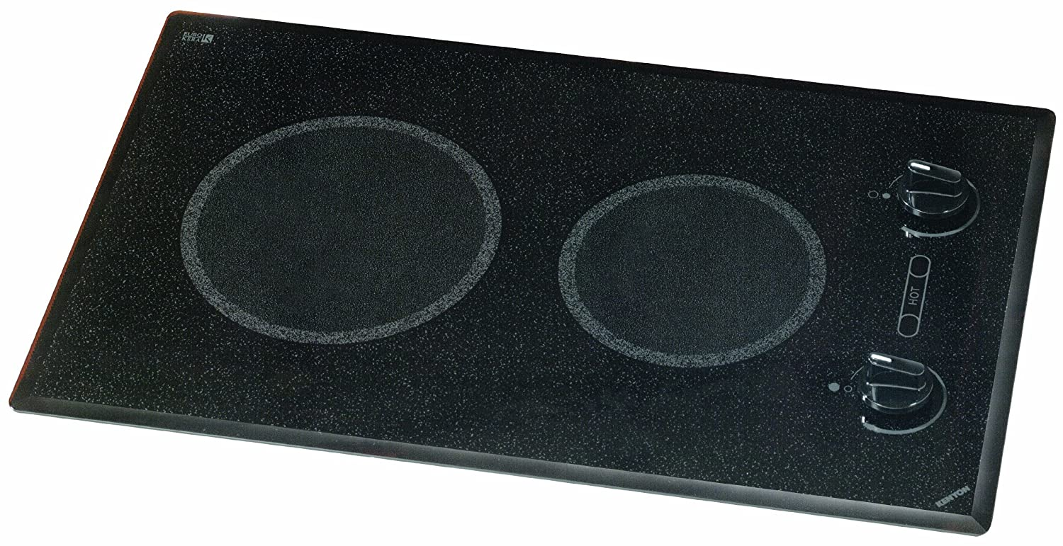 Kenyon B41510 6-1/2 and 8-Inch Mediterranean 2-Burner Cooktop with Analog Control UL, 120-volt, Black