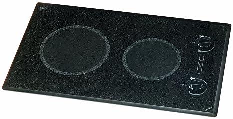 Kenyon B41591 6-1/2 and 8-Inch Mediterranean 2-Burner Cooktop with Analog Control UL Black 208-volt