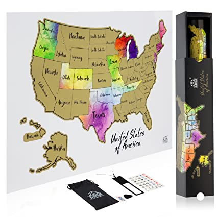 Amazon.com: Scratch Off Map Of The United States In STUNNING ...