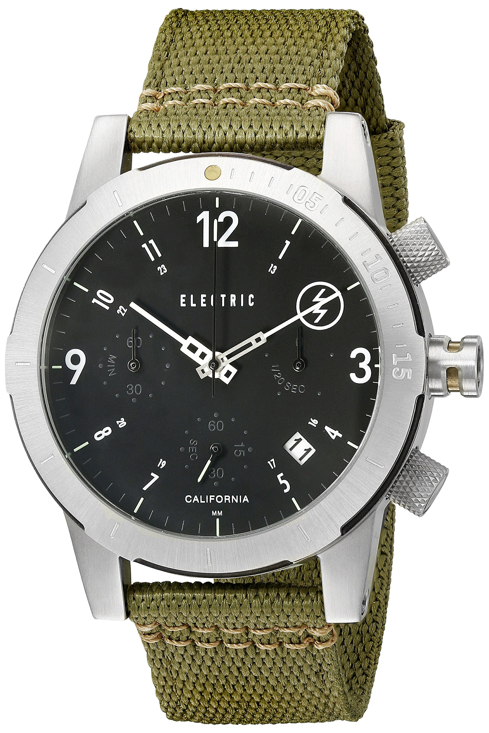 Electric FW02 Nato Watch Black/Olive, One Size by Electric
