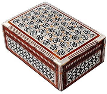 Amazoncom Jewelry Box Mother of Pearl Egyptian Decorative Mosaic