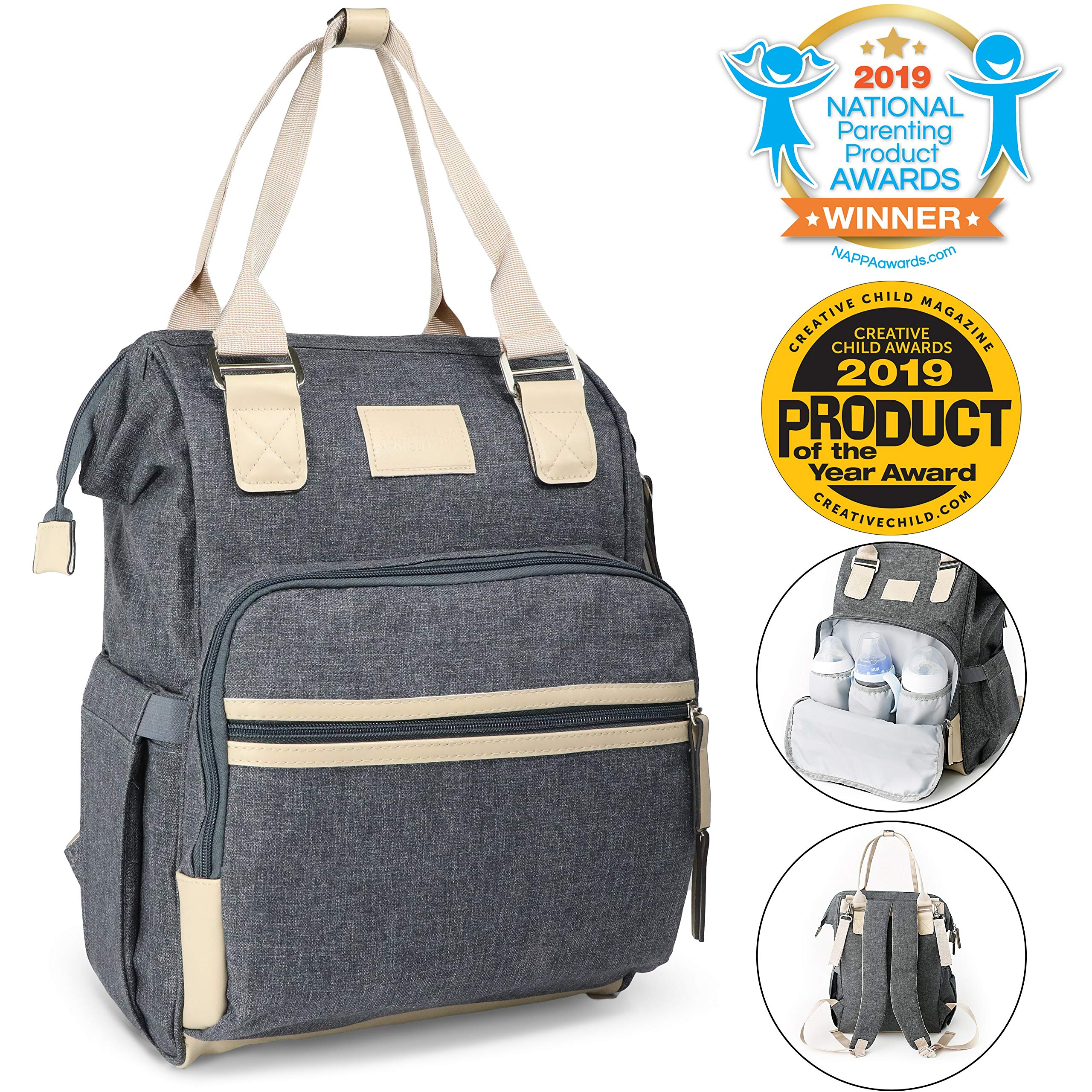 Diaper Bag Backpack, Kids N' Such Multifunction Travel Back Pack Large Baby Bag by KIds N' Such