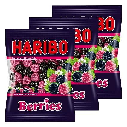 Haribo Berries, Gominolas de Fruta, pasteles, 3 bolsas de ...