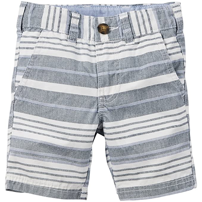 c6fe80fbb Amazon.com  Carters Baby Boys Striped Flat-Front Shorts