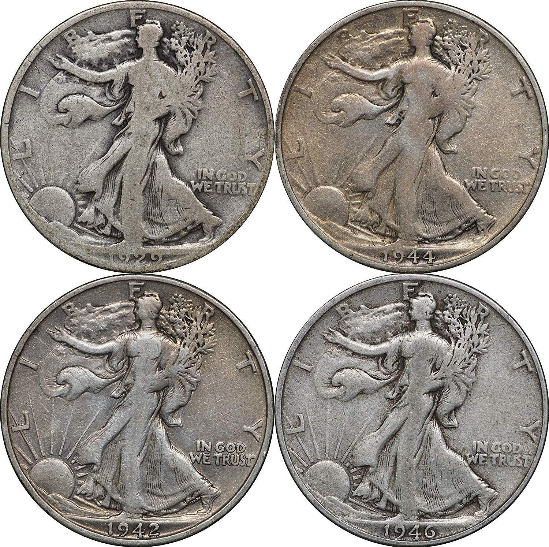 90/% Silver 1916-1947 Walking Liberty Half Dollar Average Circulated