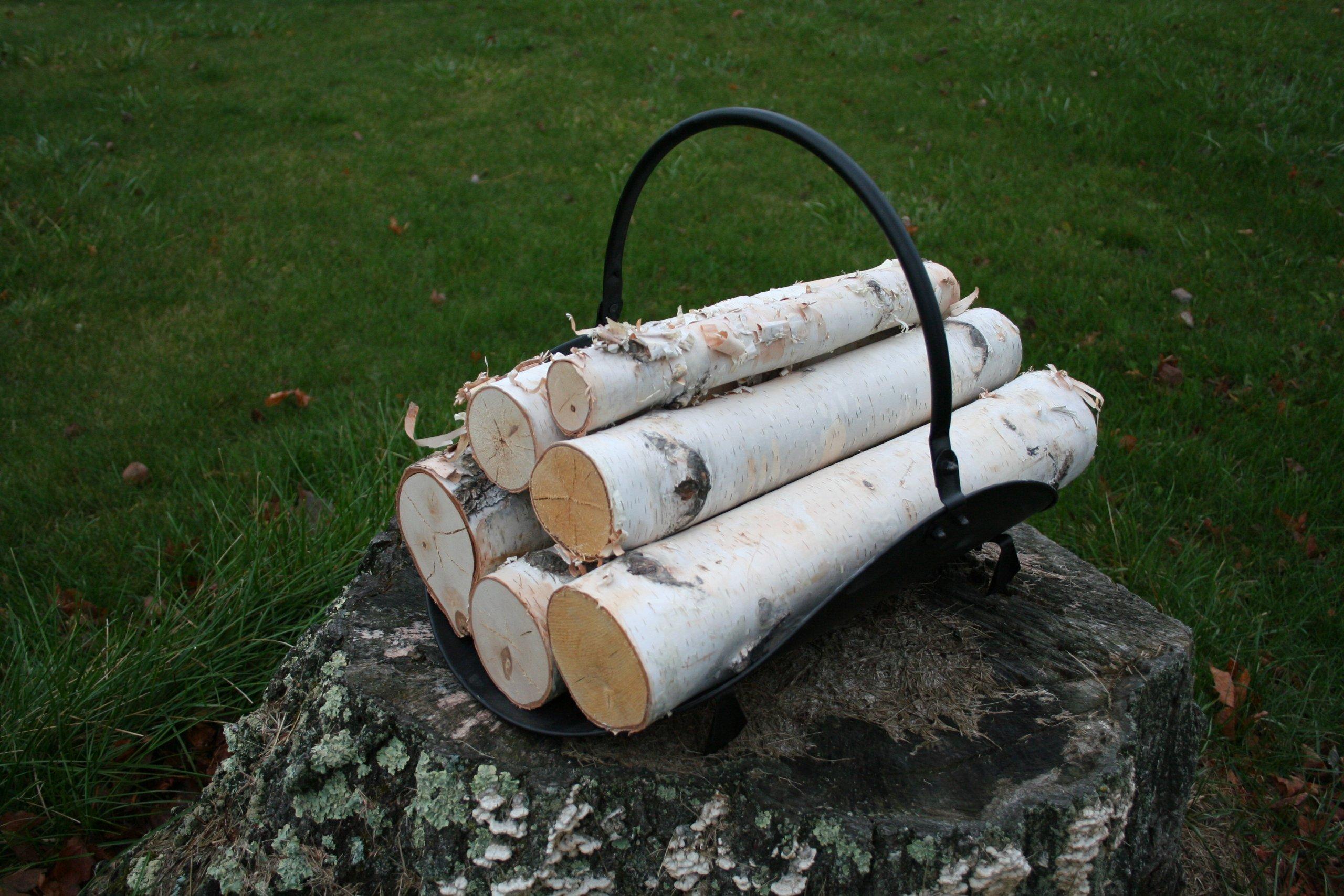 White Birch Log Set for Fireplace